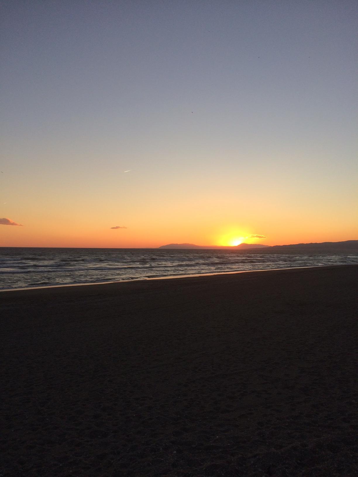 Sunset Torrox Beach